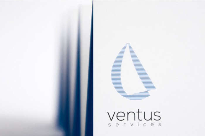 Ventus logo & brand application design