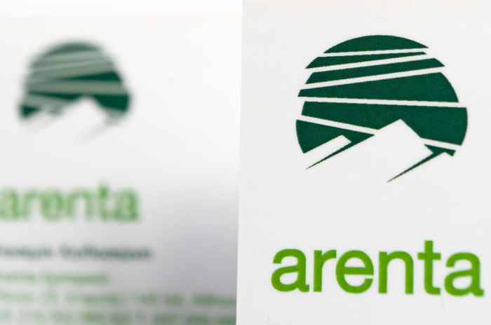 Arenta logo & brand application design
