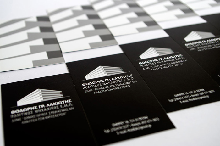 T. Lakiotis business card design