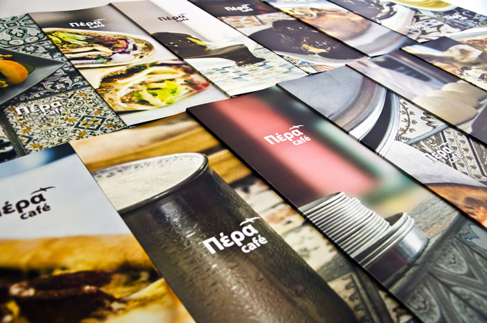 Pera Cafe, Restaurant menu design & photography